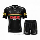 Camiseta Ninos Kit Penrith Panthers Rugby 2021 Local