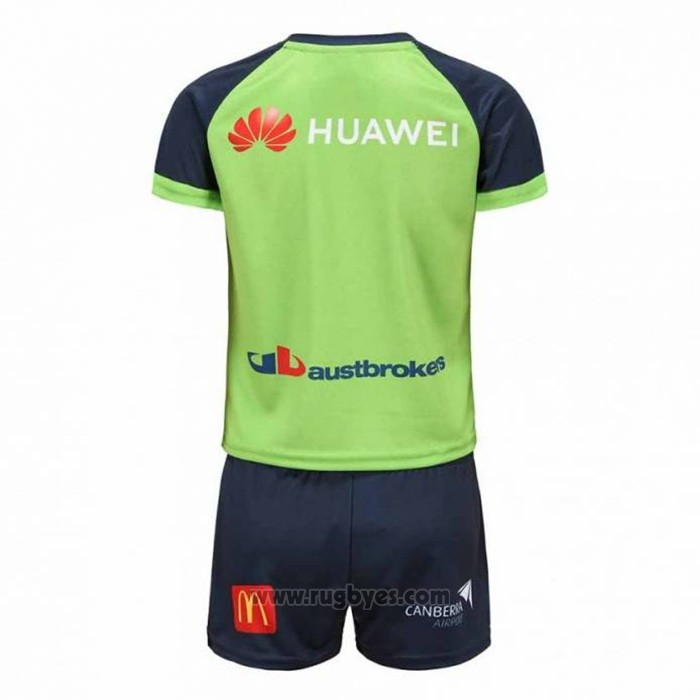 Camiseta Ninos Kit Canberra Raiders Rugby 2021 Local